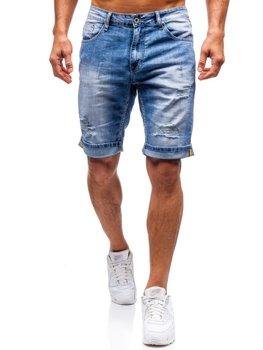 Мужские джинсовые шорты синие Bolf T578