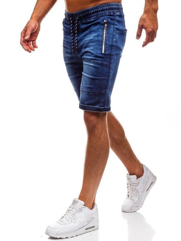 Мужские джинсовые шорты темно-синие Bolf HY188