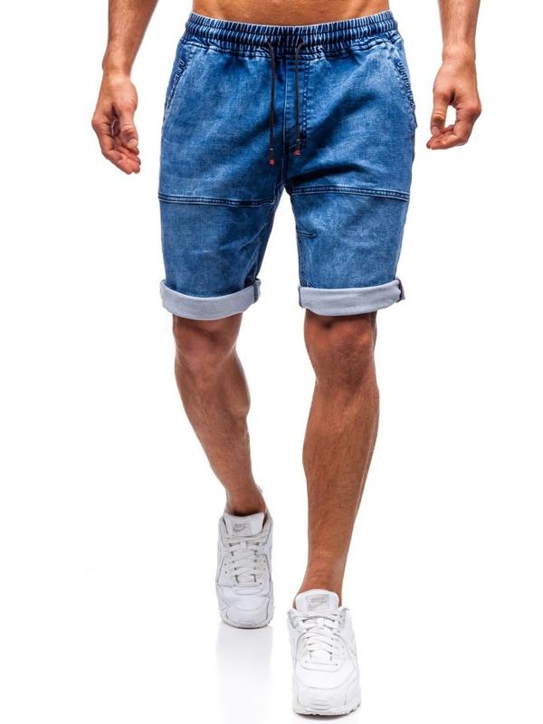 Мужские джинсовые шорты темно-синие Bolf HY335