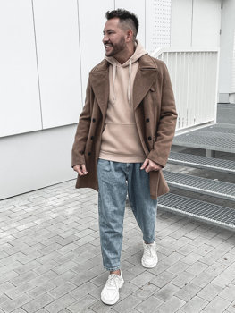 Мужское зимнее пальто кэмел Bolf 1048B