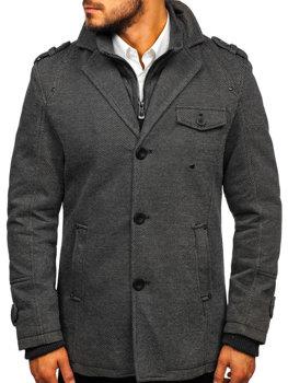Мужское зимнее пальто серое Bolf 88801