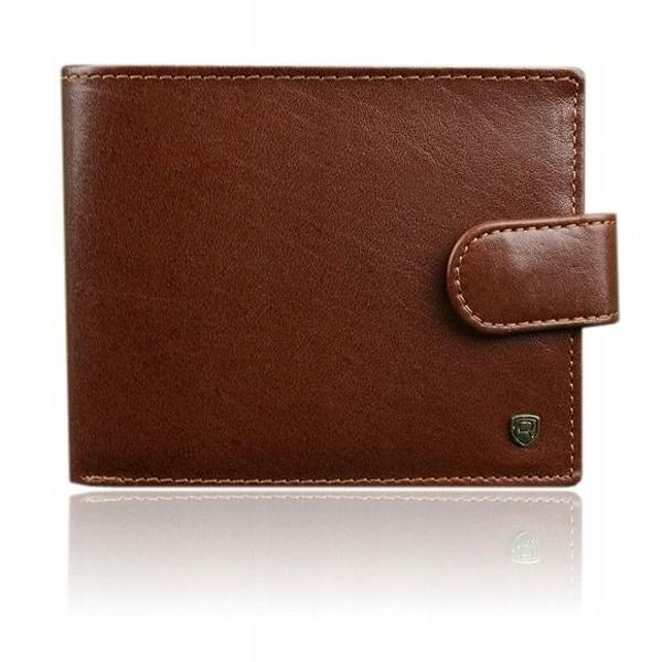 Мужской кожаный кошелек коричневый 916