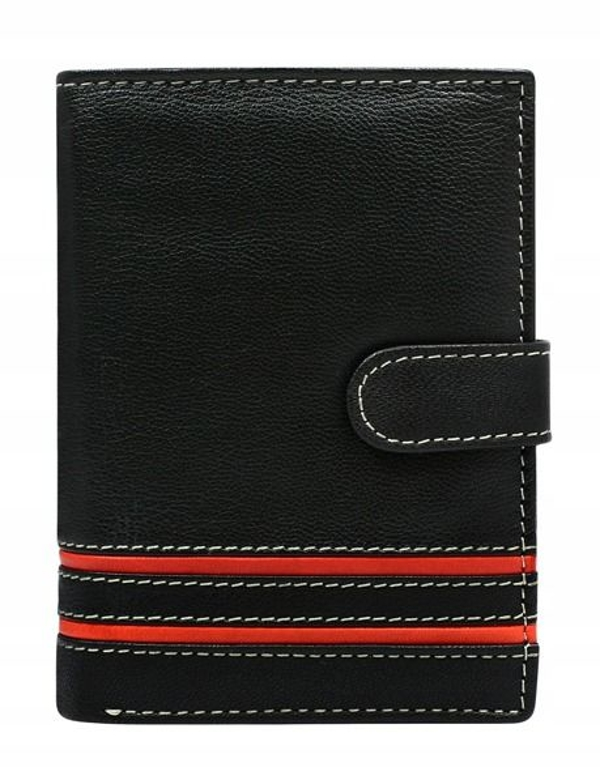 Мужской кожаный кошелек красный 583
