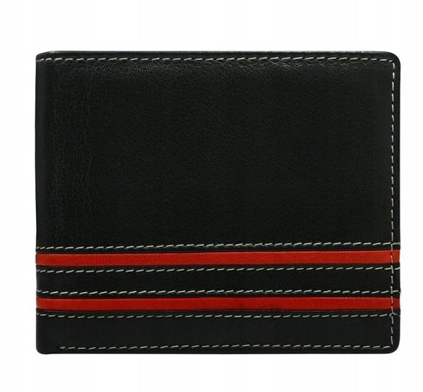 Мужской кожаный кошелек красный 597
