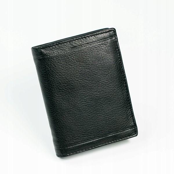 Мужской кожаный кошелек черный 879