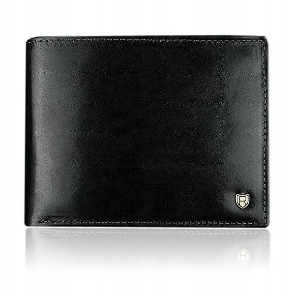 Мужской кожаный кошелек черный 909