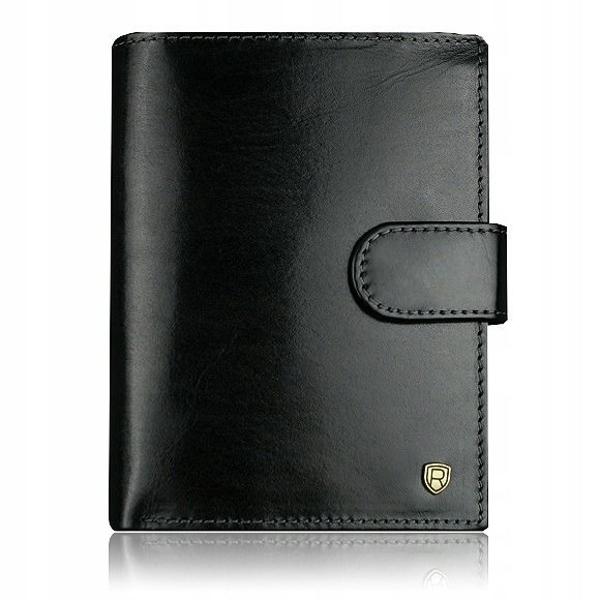 Мужской кожаный кошелек черный 914