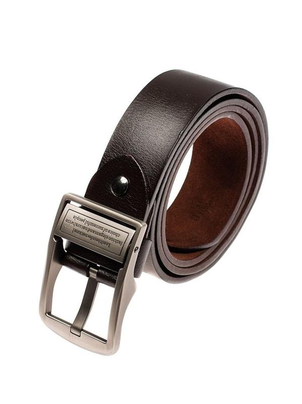 Мужской кожаный ремень коричневый Bolf P007-A