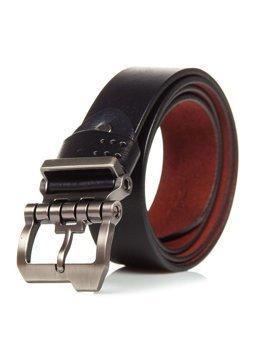Мужской кожаный ремень черный Bolf P018