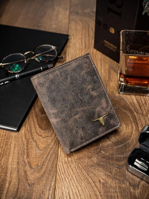 Мужской кошелек кожаный светло-коричневый 62