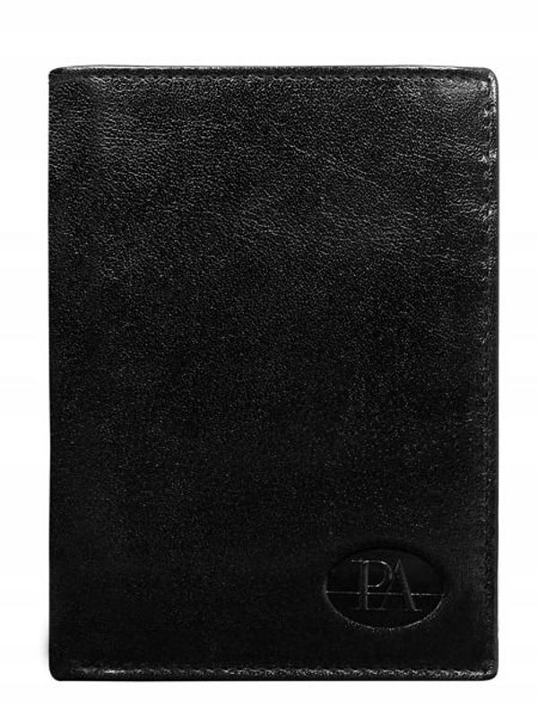 Мужской кошелек кожаный черный 76