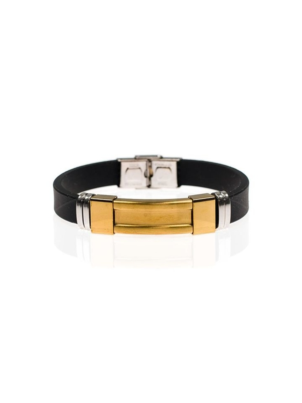 Мужской плоский браслет черный Bolf B046