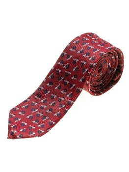 Мужской элегантный галстук красный Bolf K103