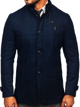 Пальто мужское темно-синее Bolf EX66A