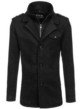 Пальто мужское черное Bolf 8853F