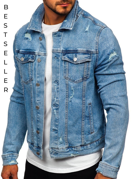 Синяя мужская джинсовая куртка Bolf AK581