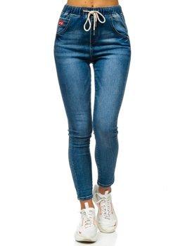 Темно-синие женские джинсы бойфренды Bolf DM9338