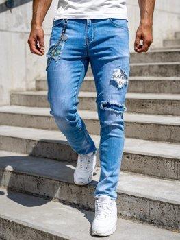 Темно-синие мужские джинсовые брюки Slim fit Bolf 85003s0