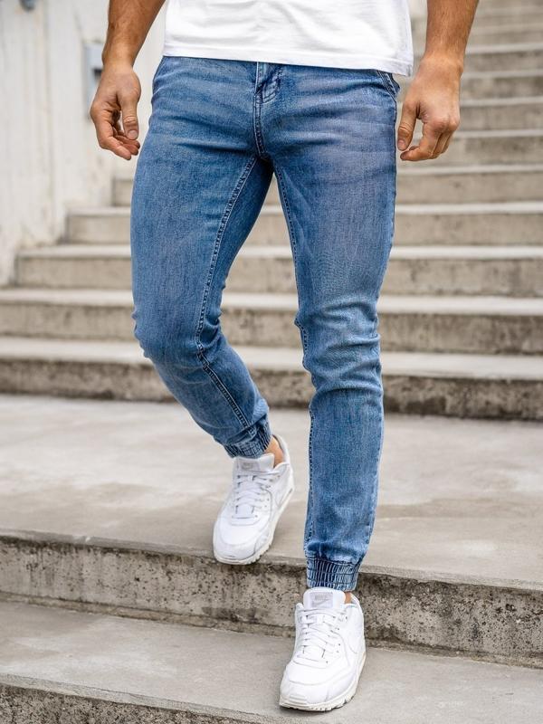 Темно-синие мужские джинсовые джоггеры Bolf KA1626