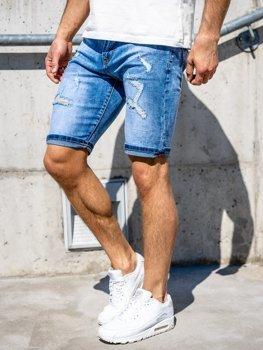 Темно-синие мужские джинсовые шорты Bolf KG3758