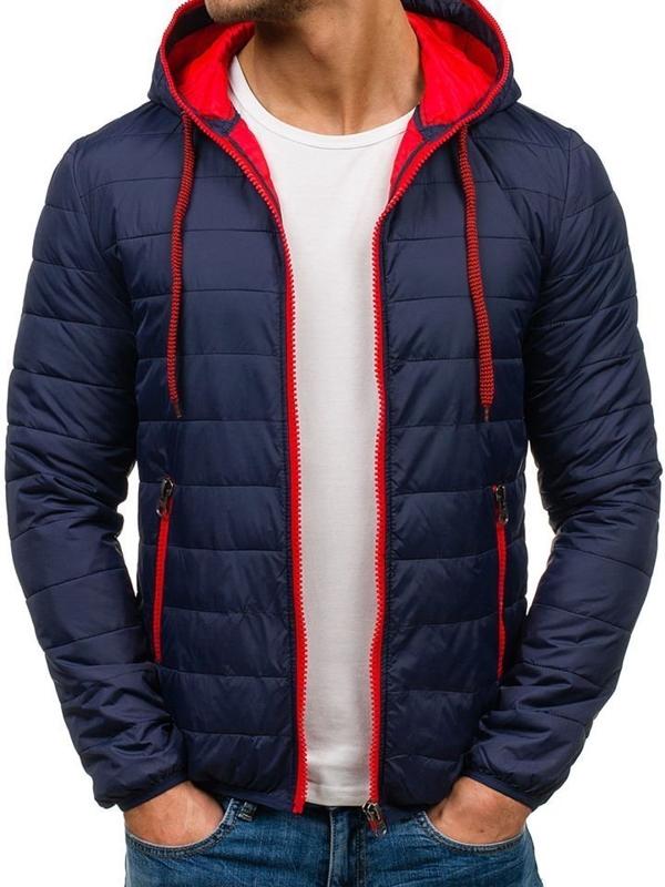 Темно-синяя мужская демисезонная куртка Bolf 1092