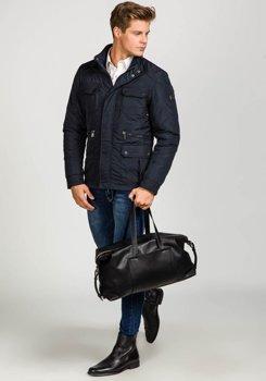 Темно-синяя мужская демисезонная куртка Bolf 1668