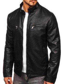 Черная мужская куртка косуха Bolf 2010