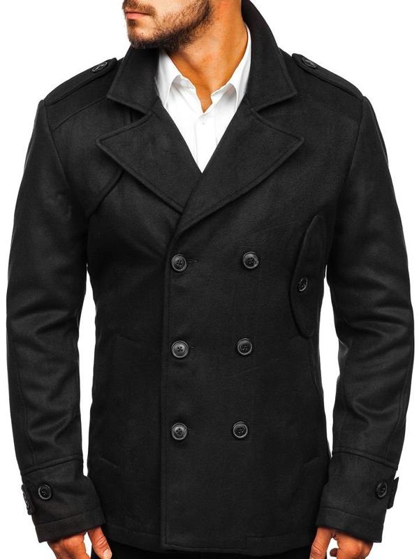 Черное мужское зимнее пальто Bolf 3118