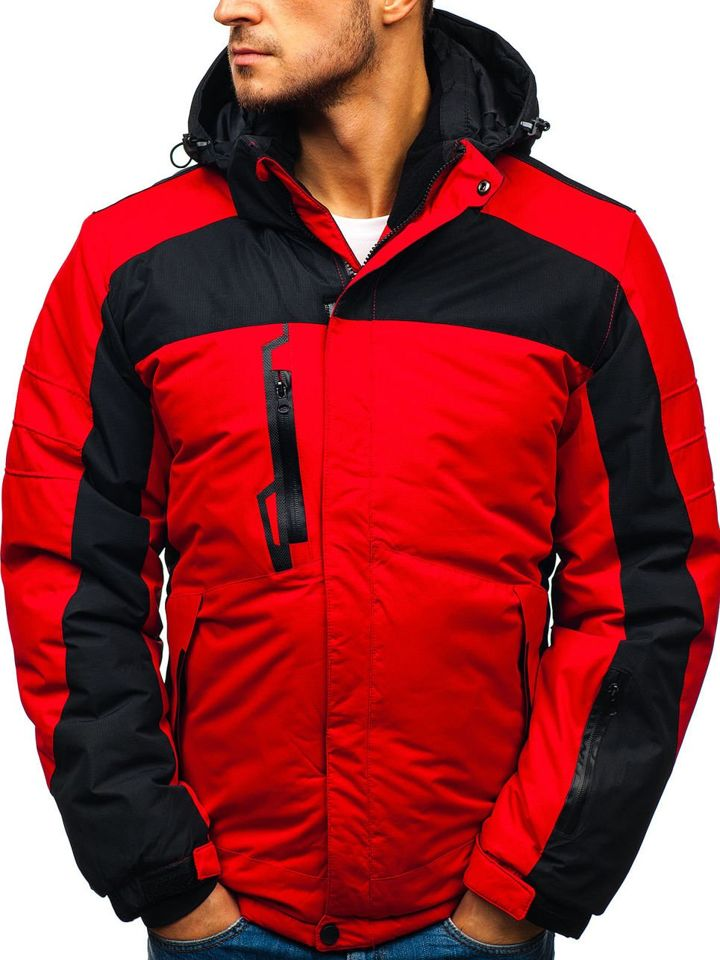 32681d52 Мужская зимняя лыжная куртка красная Bolf HZ8112 КРАСНЫЙ