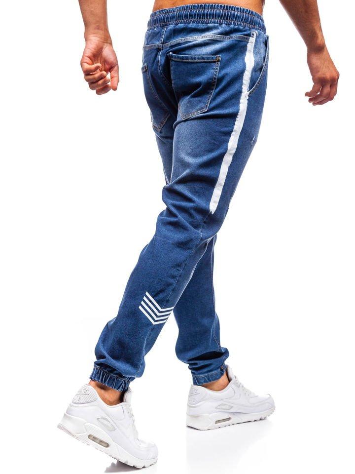 f4d5e4db Мужские джинсовые брюки джоггеры темно-синие Bolf2055 ТЕМНО-СИНИЙ