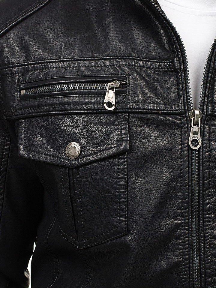 c3aeba469af ... Черная мужская кожаная куртка Bolf EX282 ...