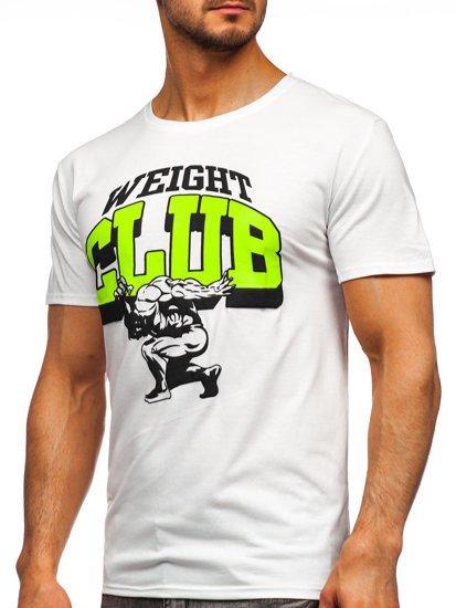 Белая мужская футболка с принтом Bolf Y70031