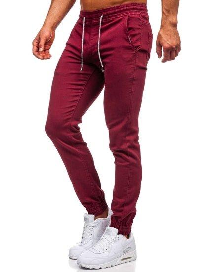 Бордовые мужские брюки джоггеры Bolf CT8808