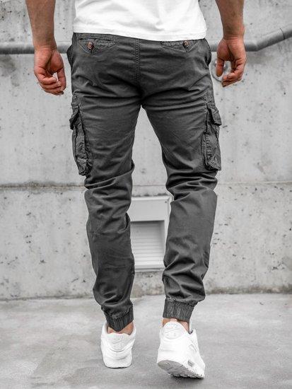 Графитные мужские брюки джоггеры карго Bolf CT6702S0