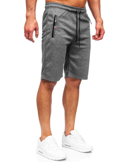 Графитовые мужские спортивные шорты Bolf JX130