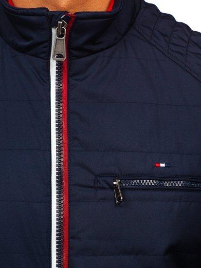 Куртка мужская демисезонная темно-синяя Bolf 2060