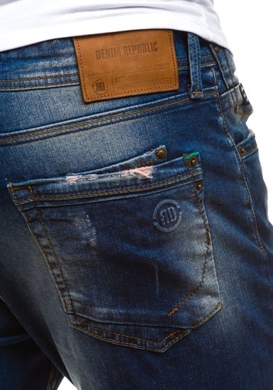 Мужские джинсовые брюки темно-синие Bolf 4838-1(1017)