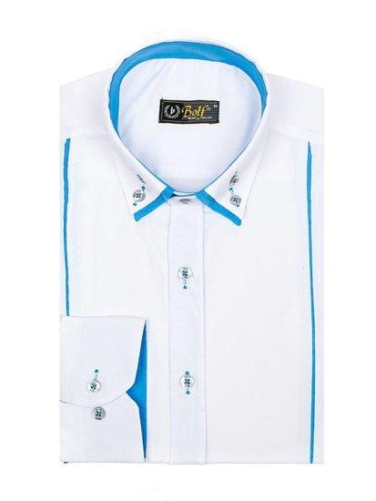 Рубашка мужская BOLF 4744 белая