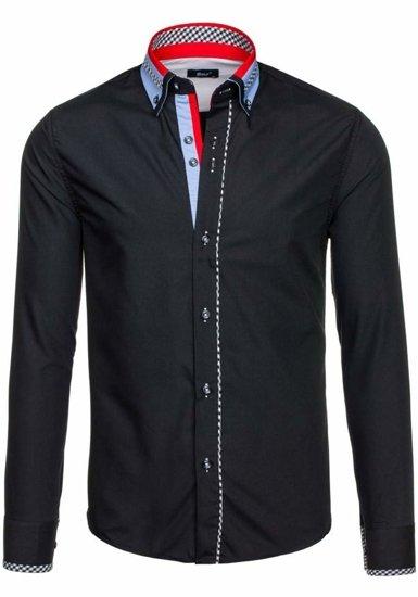 Рубашка мужская BOLF 6874 черная