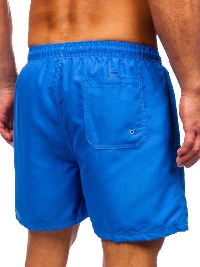 Синие мужские пляжные шорты Bolf YW07001