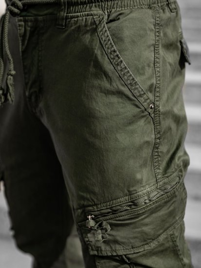 Темно-зеленые мужские брюки джоггеры карго Bolf CT6707S0