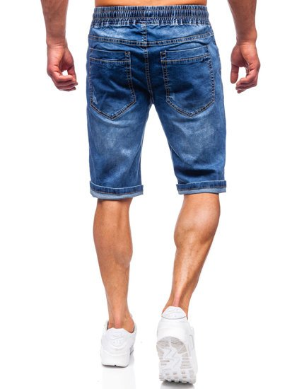 Темно-синие джинсовые шорты мужские Bolf k15010