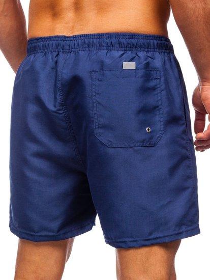 Темно-синие мужские пляжные шорты Bolf YW02001