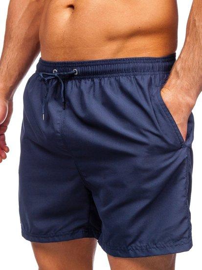 Темно-синие мужские пляжные шорты Bolf YW07001