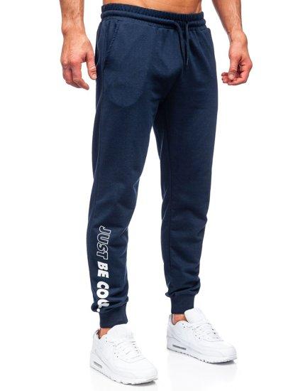 Темно-синие мужские спортивные брюки Bolf 8624