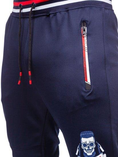 Темно-синие мужские спортивные брюки Bolf K10231