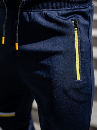 Темно-синие мужские спортивные брюки Bolf K10276