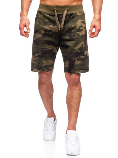 Хаки спортивные шорты камуфляжные мужские Bolf K10036