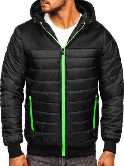 Черная спортивная мужская демисезонная куртка Bolf M10011