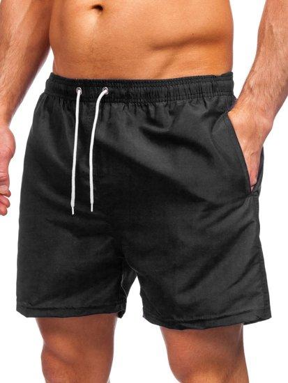 Черные мужские пляжные шорты Bolf YW02001